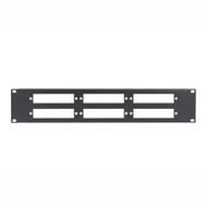 Black Box Fiber Optic Panel, Blank, 1U, 6-Slot JPMT-FIBER-6