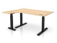 "Adjustable Height Left 48""x60"" Ergonomic Office Desk"