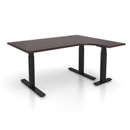 "Adjustable Height L-Shaped Ergonomic Executive Office Desk - Right 48"" x 60"" L Shaped - Sit, Stand, Move!"