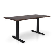 "Height Adjustable 30""x 60"" Ergonomic Business Desk - Cocoa Pecan"