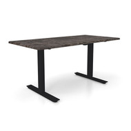 "Height Adjustable 30""x 60"" Ergonomic Business Desk - Tunisia Stone"