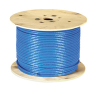 Black Box CAT7 S/FTP Bulk Cable, Solid, 1000-MHz, PVC CMR, Blue, 1000-ft. (304.8 EYNC770A-1000