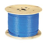 Black Box CAT7 S/FTP Bulk Cable, Solid, 1000-MHz, PVC CMR, Blue, 1000-ft. (3 EYNC770A-1000