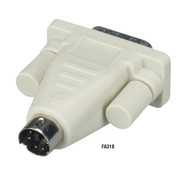 Black Box PC Adapter 6 Pin Mini Din Male To DB9 Male FA318