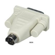 Black Box PC Video Adapters, 6-Pin Mini DIN Male to DB9 Male FA318