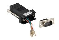 Black Box Modular Adapter Kit DB9M To RJ45F w/ Thumbscrews Black FA4509M-BK