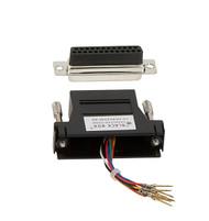 Black Box DB25 Modular Adapter Kit (Unassembled), Female to RJ-45, 8-Wire, Black FA4525F-BK