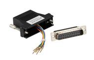 Black Box DB25 Colored Modular Adapter (Unassembled), Black FA4525M-BK