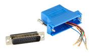 Black Box DB25 Colored Modular Adapter (Unassembled), Blue FA4525M-BL