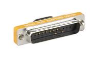 Black Box RS232 Serial Slimline Adapter DB9 Male To DB25 Male FA614