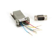Black Box MMJ Adapter Kit DB9M To MMJF With Thumbscrews FA765