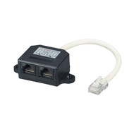 Black Box Cat5E Cable Adapter Doubler 1 RJ45 Male/2 RJ45 Female FAU962