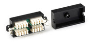 Black Box CAT5e Hard-Wire Coupler, STP FAU964