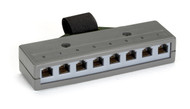 Black Box Category 3 Cluster Bar, (8) RJ-11, USOC, 6-Wire Ports, (1) Telco 50 Fe FM031