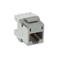 Black Box Cat6A Unshielded RJ45 Keystone Jack Gray FM10G22-R2