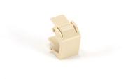 Black Box Snap Fitting Keystone Blank Office Ivory 20-Pack FM334C