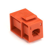 Black Box GigaStation Snap Fitting, MT-RJ Flush Adapter (Female/Female), Orange FM352