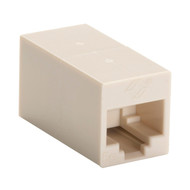 Black Box CAT5e Coupler, Unshielded, Straight-Pin, Beige, 10-Pack FM507-R2-10PAK