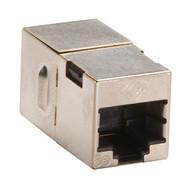 Black Box CAT5e Coupler, Straight-Pinned, Shielded, Silver, 10-Pack FM508-R2-10PAK