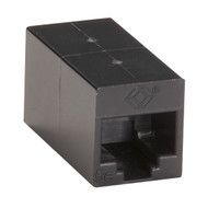 Black Box CAT5e Coupler, Straight-Pinned, Unshielded, Black, Single-Pack FM509