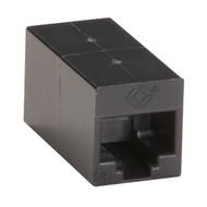 Black Box CAT5e Coupler, Straight-Pinned, Unshielded, Black, 10-Pack FM509-10PAK