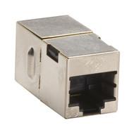 Black Box CAT5e Coupler, Cross-Pinned, Shielded, Silver, Single-Pack FM568-R2