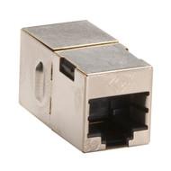 Black Box CAT5e Coupler, Cross-Pinned, Shielded, Silver, 10-Pack FM568-R2-10PAK