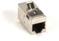 Black Box CAT5e Keystone Coupler, Straight-Pinned, Shielded, Silver, Single-Pack FM593