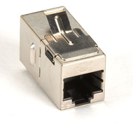Black Box Cat5E Shielded Straight-Pin Keystone Coupler Silver 10-Pack FM593-10PAK
