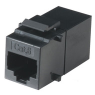 Black Box CAT6 Keystone Feed-Through Straight-Pinned Coupler, Black FM692