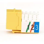 Black Box Usoc Jack RJ-11 Yellow 25-Pack FMT248-25PAK