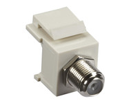 Black Box GigaStation2 Snap Fitting, F-Connector, Female/Female, Office White FMT331-R2