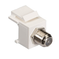 Black Box GigaStation2 Snap Fitting, F-Connector, Female/Female, White FMT361-R2