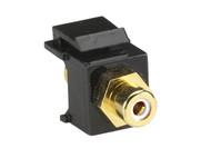 Black Box RCA Connector, Passthrough, Female/Female, White FMT440