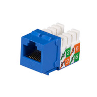 Black Box Cat5E Unshielded Keystone Jack Blue 25-Pack FMT920-R2-25PAK