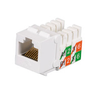 Black Box Cat5E Unshielded Keystone Jack White 25-Pack FMT929-R2-25PAK