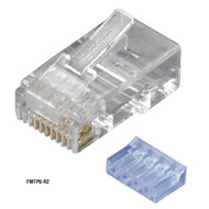 Black Box CAT6 Modular Plugs - RJ-45, 100-Pack FMTP6-R2-100PAK