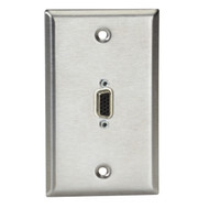 Black Box (1) VGA Male to Female AV Stainless Steel Wallplate WPVGA02-R2