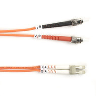Black Box 1m (3.2ft) STLC OR OM2 MM Fiber Patch Cable INDR Zip OFNR FO50-001M-STLC
