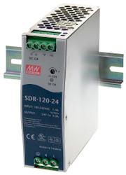 Black Box DIN Rail Power Supply, 120 Watts, 24 VDC SDR-120-24