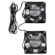 2 Low Noise Fans, 120 VAC