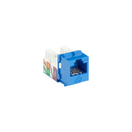 Black Box Blue CAT6A Keystone Jack Unshielded RJ45 C6AJA70-BL-R2-25PAK