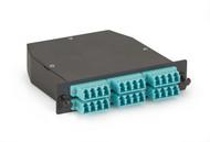 Black Box OM3 50-Micron Multimode Fiber Optic Cassette (LGX), 2 x 12-Strand MTP FOCA20M3-2MP12-24LC