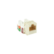 Black Box 25-Pack Office White CAT6A Keystone Jack Unshielded RJ45 C6AJA70-OW-R2-25PAK