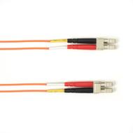 Black Box 1-m, LC-LC, 62.5-Micron, Multimode, Plenum, Orange Fiber Optic Cable FOCMP62-001M-LCLC-OR