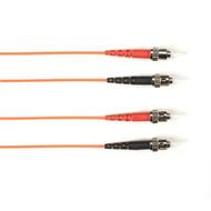 Black Box 10m (32.8ft) STST OR OM1 MM Fiber Patch Cable INDR Zip OFNP FOCMP62-010M-STST-OR