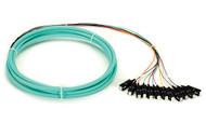 Black Box 3m SC OM3 50-Micron MM Fiber Pigtail 12-Strand OFNR PVC Aqua FOPT50M3-SC-12AQ-3