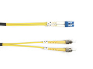 Black Box 3m (9.8ft) STLC YL OS2 SM Fiber Patch Cable INDR Zip OFNR FOSM-003M-STLC