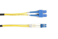 Black Box 5m (16.4ft) SCLC YL OS2 SM Fiber Patch Cable INDR Zip OFNR FOSM-005M-SCLC