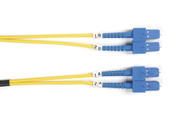 Black Box 5m (16.4ft) SCSC YL OS2 SM Fiber Patch Cable INDR Zip OFNR FOSM-005M-SCSC